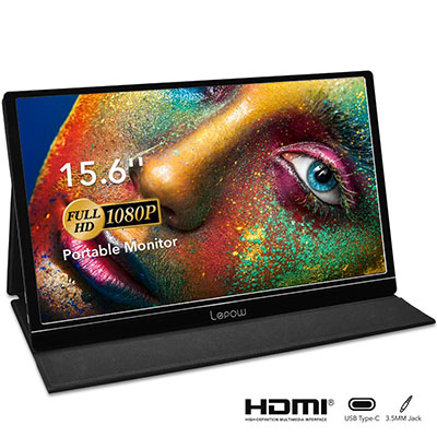 Lepow 15.6 Inch Full HD 1080P USB Type-C Computer Display