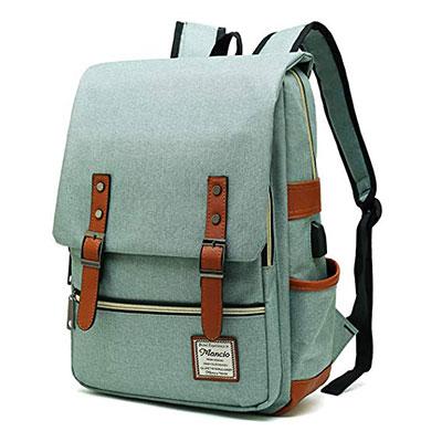 MANCIO Slim Vintage Laptop Backpack