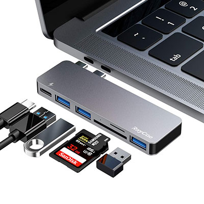 RayCue MacBook Pro Dual Hub Adapter