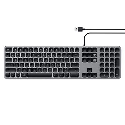 Satechi Aluminum USB Wired Keyboard